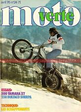 MOTO VERTE  24 YAMAHA XT 500 BULTACO T238 Sherpa Enduro du Touquet Ice Race 1976