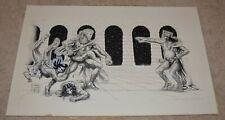 GENUINE VINTAGE CARL LUNDGREN POSTER ARTIST 1972 SWORD FIGHT ORIGINAL