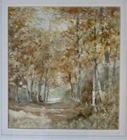 Antique,original watercolour of Lake District Woodland. by B. Robinson.Unframed.