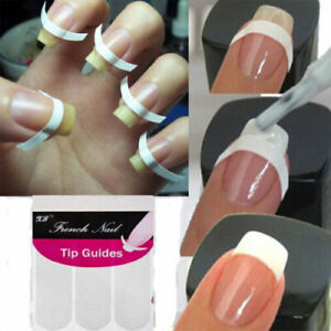 240pcs French Manicure Nail Art Tips Form Guide Sticker Polish DIY Stencil New