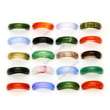 FREE wholesale lots 5pcs Colorful natural agate gemstone rings Jewelry woman