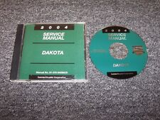 2004 Dodge Dakota Truck Shop Service Repair Manual DVD Sport SXT SLT V6 V8
