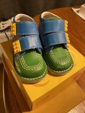 INFANT KIDS LEGO KICKERS NAVY LEATHER ANKLE BOOTS EU 23 BOX