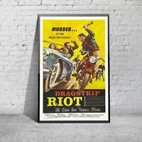 Vintage Dragstrip Riot Movie Film  Poster Print Picture A3 A4