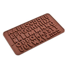 Silicone Letter Alphabet Pudding Bakeware Mould Cake Chocolate Ice Make Mold QW