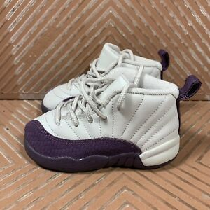 Nike Air Jordan Retro XII 12 (TD) Desert Sand/ Pro Purple Toddler 7C 819666-001