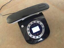 Vtech Ls6195 Retro Cordless Phone black rotary style + answering machine/call Id