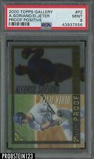 2000 Topps Gallery Proof Positive Derek Jeter Yankees PSA 9 POP 5 ONLY 1 HIGHER