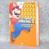 NEW SUPER MARIO BROTHERS 2 Perfect Guide w/Sticker 3DS Book EB02*