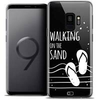 "Coque Crystal Gel Pour Samsung Galaxy S9 (5.8"") Souple Summer Walking on the San"