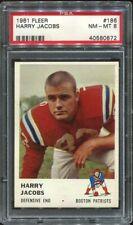 1961 Fleer #186 Harry Jacobs PSA 8 Boston Patriots