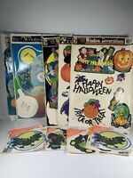Vtg 1997 Classic Clings Halloween Window Decorations Used Lot Pumpkin Ghost