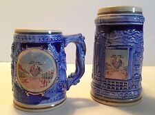 1964-65 NY World's Fair Unisphere Small Beer Steins (2 different designs- NYC)