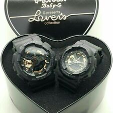 CASIO G-Shock & Baby-G Watch Black Lover's collection Pair watch Rare New in box