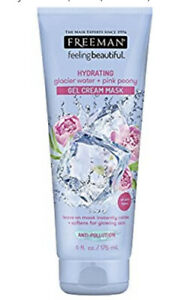 Glacier Water & Pink Peony Hydrating Anti Pollution Gel Cream Leave On Mask 6 oz