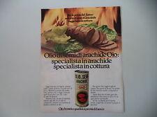 advertising Pubblicità 1980 OLIO DI SEMI OIO