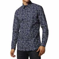 DIESEL S STARY 0KAQB 8AT Mens Shirt Long Sleeve Casual Summer Cotton Navy Shirts