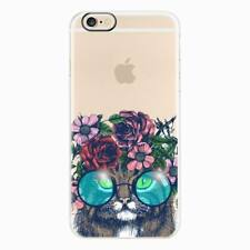 For Apple iPhone 8 7 6S Plus Slim Flower Pattern Rubber Soft TPU Back Case Cover