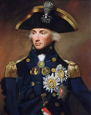 Large Lord Nelson British Royal Navy Admiral Painting Real Canvas Art Print
