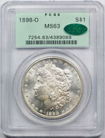 1898 O $1 Morgan Dollar PCGS MS 63 Uncirculated OGH CAC Approved PL?