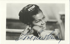 Pearl Bailey - American Singer and Actress - Hand Signed B & W Photograph.