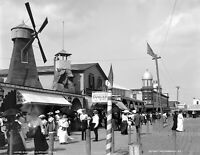 "1900 Boardwalk, Rockaway, New York Vintage Photograph 8.5"" x 11"" Reprint"