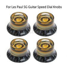 4Pcs Custom LP  Black&Gold Guitar Speed Dial Knobs Control Knobs For Les Paul SG