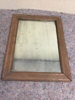 Antique Mirror In Frame-Eye Hooks Added By Previous Owner