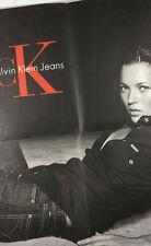 Kate Moss Eva Herzigova Raro Calvin Klein CK jeans Pared Poster Mario Testino De Colección
