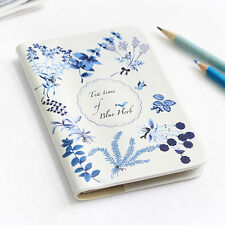 Lady Passport Holder Cover Case Travel  Wallet - Shinzikatoh Teatime blue herbs