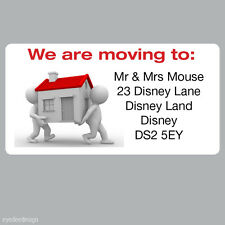 Personalised New House Home We are Moving Address Labels Stickers -ref 093