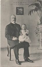 POSTCARD ROYALTY  NETHERLANDS  Prince with baby Juliana