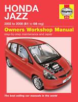 Haynes Manual 4735 Honda Jazz 1.2i 1.4i 1.4i-DSi 2002-2008 NEW