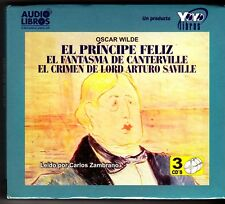 El Principe Feliz / The Happy Prince by Oscar Wilde (Spanish) 3 Audio CDs - NEW