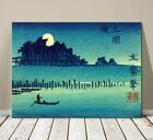 "Beautiful Japanese Landscape Art ~ CANVAS PRINT 32x24"" ~ Hiroshige Fukeiga Lake"