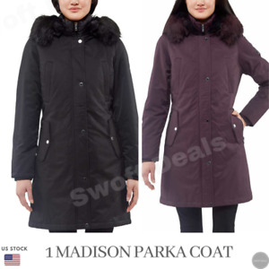1 Madison Expedition Ladies Parka Coat With Bib Faux Fur (Choose Color and Size)
