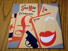"""STEVE MILLER BAND - TAKE THE MONEY AND RUN / THE JOKER     7"""" VINYL PS"""