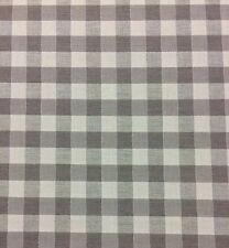 "BALLARD DESIGNS GINGHAM CHECK TAUPE SUNBRELLA OUTDOOR INDOOR FABRIC BY YARD 54""W"