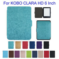 Leather Shell Case For Kobo Clara HD 6 Inch, Slim Cover + Auto Sleep /Wake