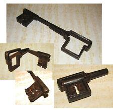 CHIAVE ANTICA DOPPIA PIEGHEVOLE-399-Double Ancient Key-Alter Schlüssel-Clé-LLave