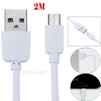 2M Silicone Micro USB Data Sync Charger Cable Charging Cord For Samsung Android
