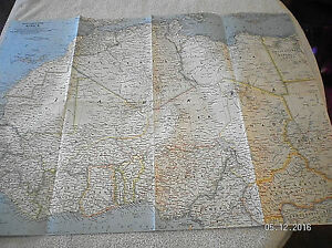 1962 VINTAGE MAP OF NORTH WESTERN AFRICA NATIONAL GEOGRAPHIC ...