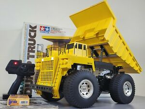 Vintage Rare Tamiya R/C 1/20 Mammoth Dump Truck 4WD 2.4GHz Radio w/ light Kit