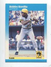 1987 Fleer #605 Bobby Bonilla Pittsburgh Pirates Rookie