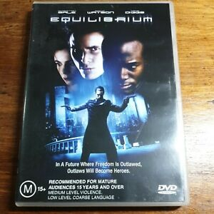 Equilibrium DVD Christian Bale R4 LIKE NEW FREE POST