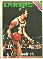 1975-76 Topps #110 Gail Goodrich Los Angeles Lakers Basketball Card