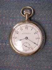 Open Face Nickel Pocket Watch Serviced! Gorgeous 18S Waltham 15J Crescent St