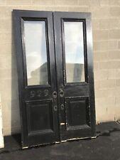 Cm716 Pair Antique Double Entrance Doors 52.5 X 89 X 1.75