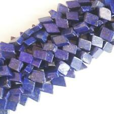 Lapis Lazuli Diamond Beads 7x10mm-7x12mm Blue 48+ Pcs Dyed  Handcut Gemstones