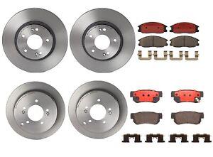 Brembo Front Rear Full Brake Kit Disc Rotors Ceramic Pads For Hyundai Santa FE